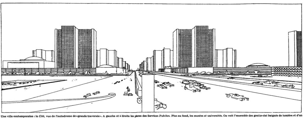 Tidig modernistisk vision om den funktions- och trafikseparerade staden